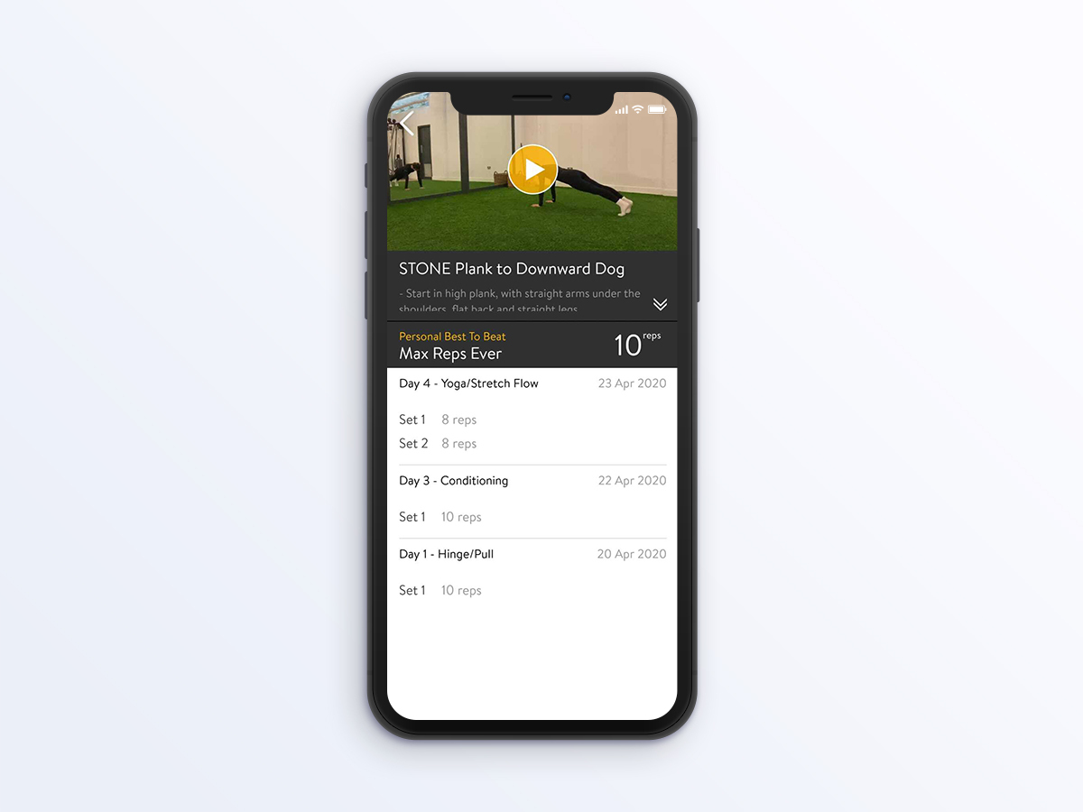 STONE home workout app